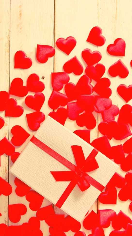 Red Hearts Gift Valentines Honor 30S HD Wallpapers