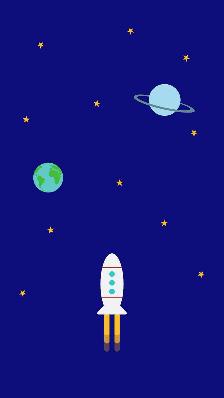 Space Earth Rocket Minimal HD 1080p Mobile Wallpapers Download