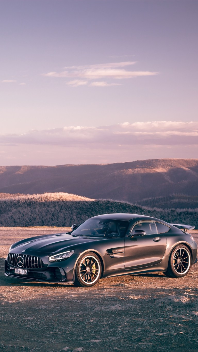 Benz AMG GTR PRO Gray Speed Car Android Wallpapers