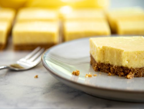 Lemon Cheesecake Bar on a plate