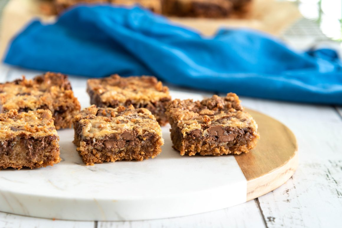 Chocolate Caramel Traybake squares