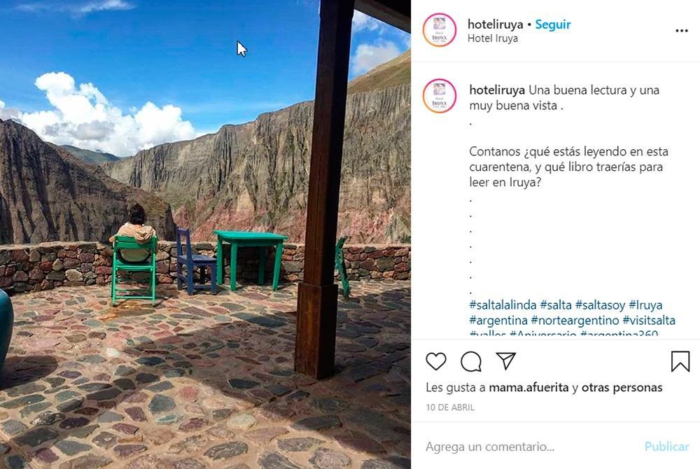 Instagram del Hotel Iruya.