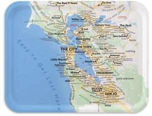 "San Francisco Bay Area 17""x13""- Urban Dictionary"