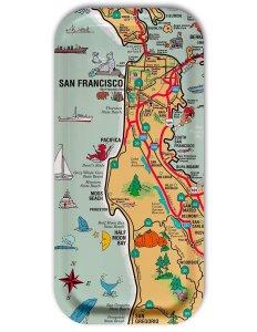San Francisco Fun map TV tray