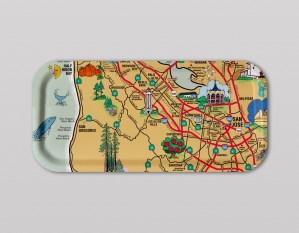 Silicon Valley Souvenir Map Tray