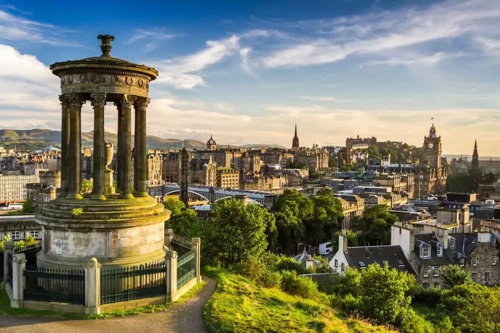 Zwiedzanie Edynburga przez grupę incentivową.