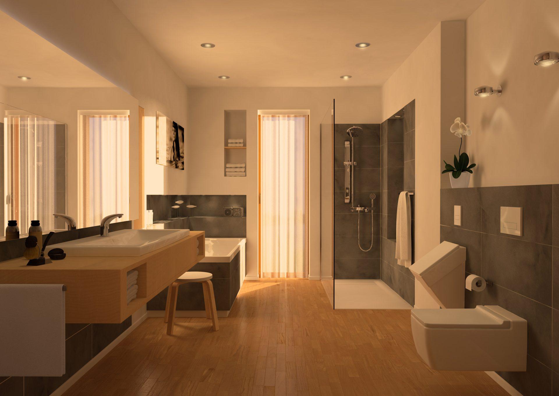 Bodenebene Duschflächen lassen sich an individuelle Bedürfnisse anpassen