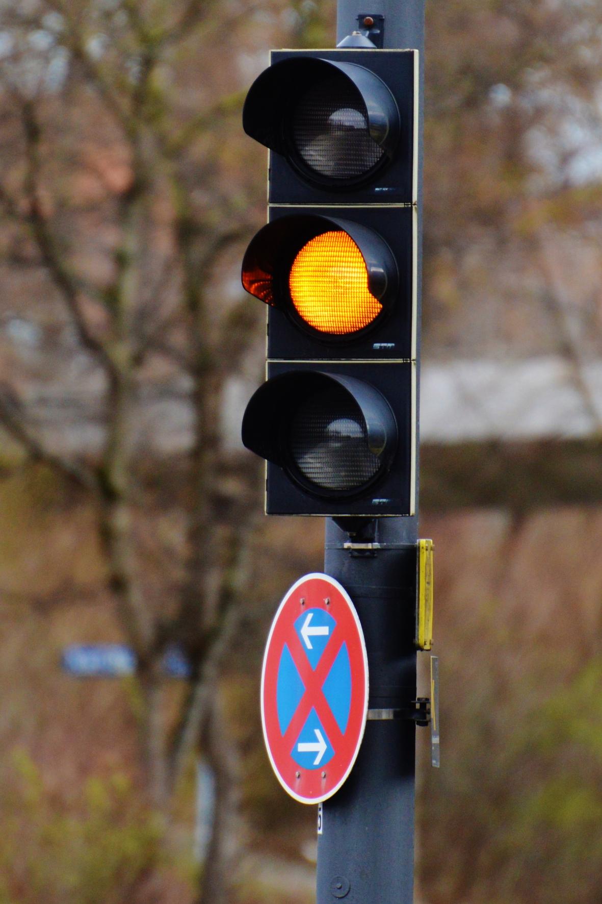 Abgefahren: Gelblicht-Verstoß an der Kreuzung