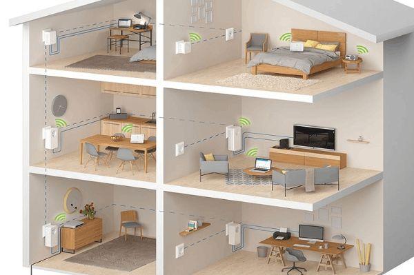 Es kann ganz schön aufwendig sein, eine komplettes Haus mit einer guten WLAN-Abdeckung auszustatten. © Devolo / TRD Pressedienst Digital und Technik