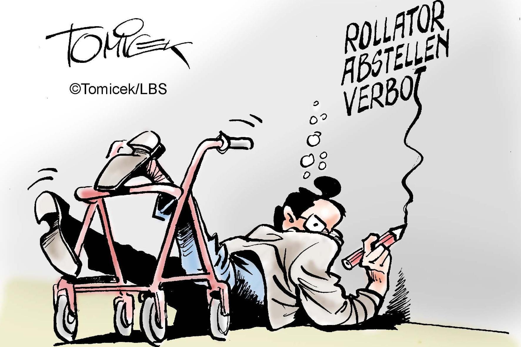Rechtliche Hürde: Mieterin setzt Rollator-Parkplatz vor Gericht durch