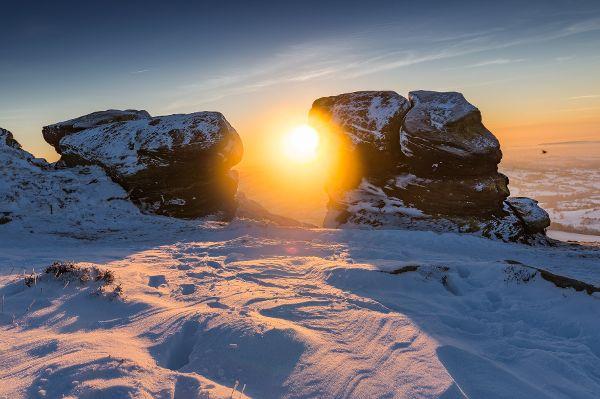 Wintersport strapaziert die Augen