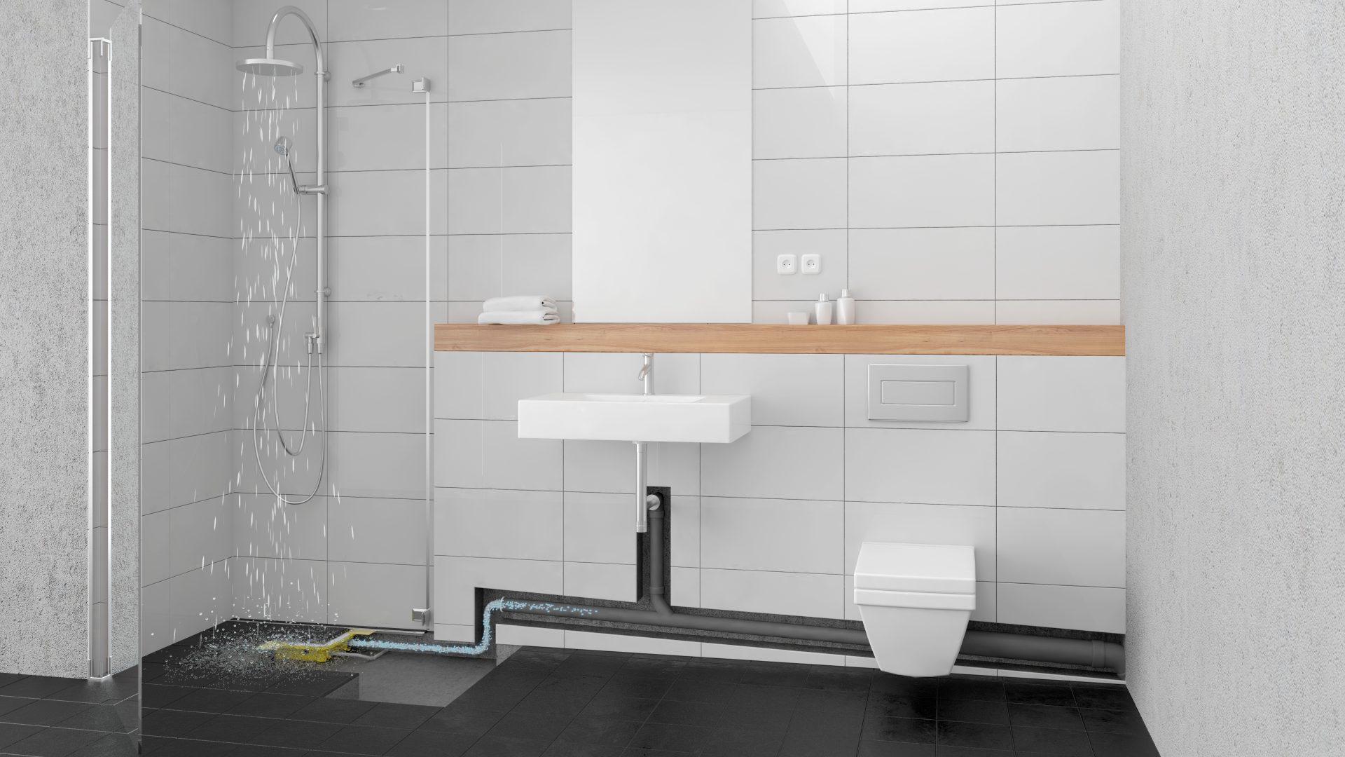 Zuschuss für individuelle Entwässerungslösung im Bad