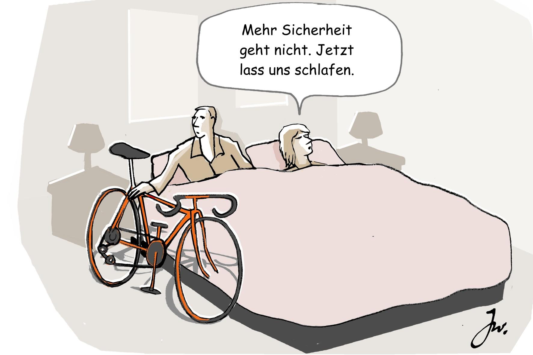 Bei Fahrraddiebstahl lag die Schadenshöhe pro Rad im Vorjahr bei 630 Euro