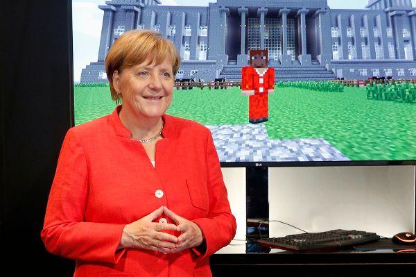 Merkel mit Raute