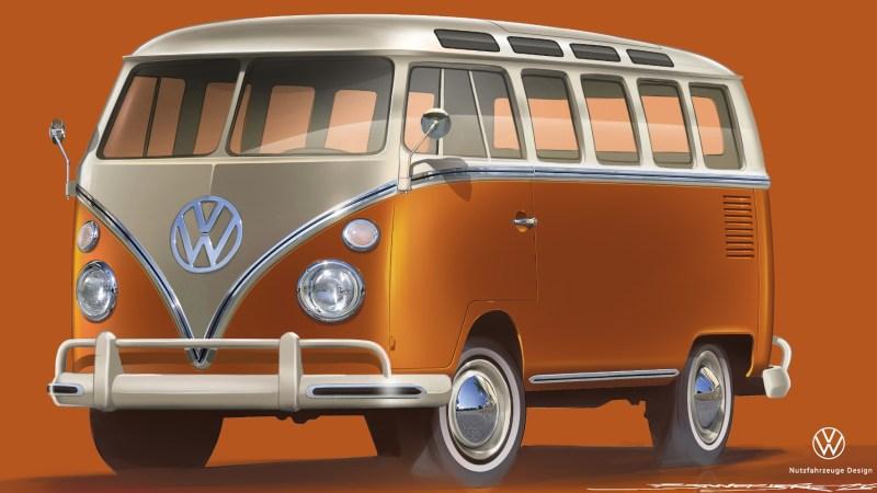 """Ein historisches Fahrzeug mit modernster Antriebstechnik - das ist der Traum vieler Oldie-Fans. VW Nutzfahrzeuge (VWN) hat auf der Techno-Classica in Essen (25. bis 29. März 2020) ein solches Schmuckstück dabei: den e-Bulli auf Basis des T1 """"Samba-Bus"""" aus dem Jahr 1966. Nach der Vorstellung der Spezialisten aus Hannover soll der blitzblank restaurierte Crossover aus historischer Basis und elektrischer Antriebstechnik """"ein Fenster in die Zukunft der Klassiker aufstoßen"""". Seine Antriebs- und Batterietechnik besteht aus Serienbauteilen der neuesten VW-Elektrofahrzeuge. Ein modernes und sichereres Fahrwerk kam beim Showcar auch noch dazu. Auch das Interieur wurde entsprechend der historischen Wurzeln verändert, so enthält nun der neue Tacho Leuchtdioden für die Wählstufen der Automatik. Bedient wird der e-Bulli unter anderem über ein in die Dachkonsole integriertes Tablet. VWN sieht das Schaustück als """"Brücke zwischen dem historischen T2 Elektro-Transporter von 1972 bis 1979 und dem künftigen ID. BUZZ"""", der 2022 starten soll. Foto: © VWN/ TRD mobil / Quelle: Motor-Informations-Dienst (mid)"""
