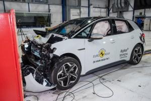 Der VW ID.3 kommt beim Crashtest auf die volle Punktzahl © Euro NCAP/TRD mobil