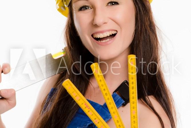 Frau als Bauarbeiterin