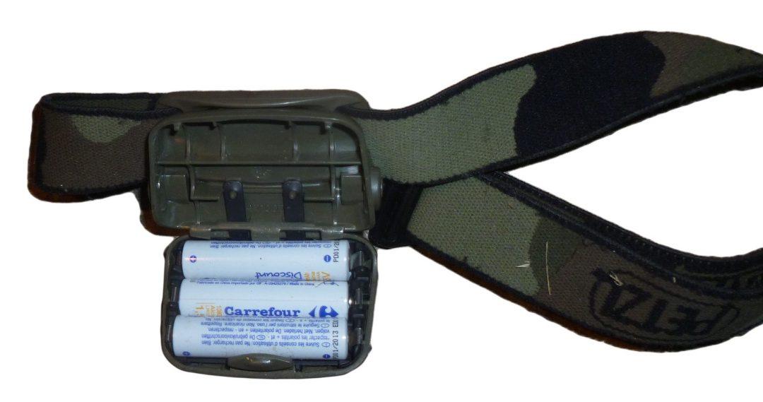 Compartiment à batteries de la Petzl Tactikka Camo