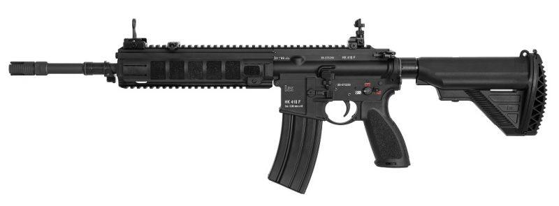 HK416F spécifique Armée Française. Les rails latéraux sont ici recouverts de couvre-rails amovibles (Image HK).