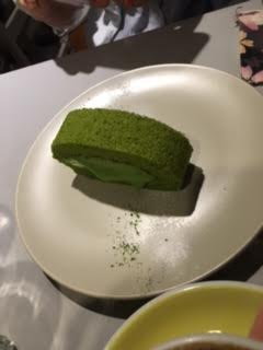 Matcha roll with melted center <3