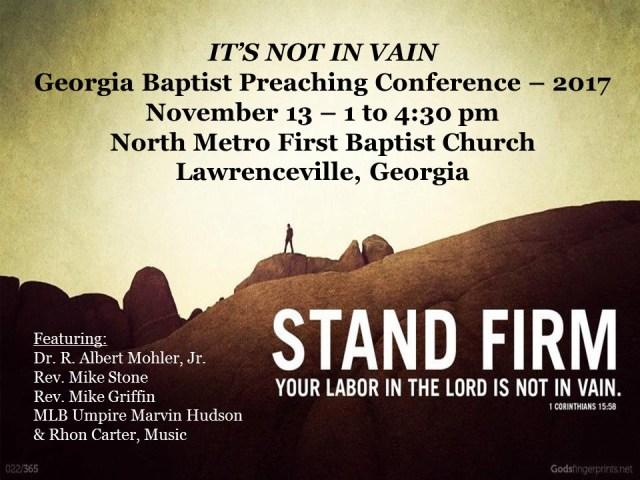 GA BAPTIST PREACHING CONF 2017 AD for CI