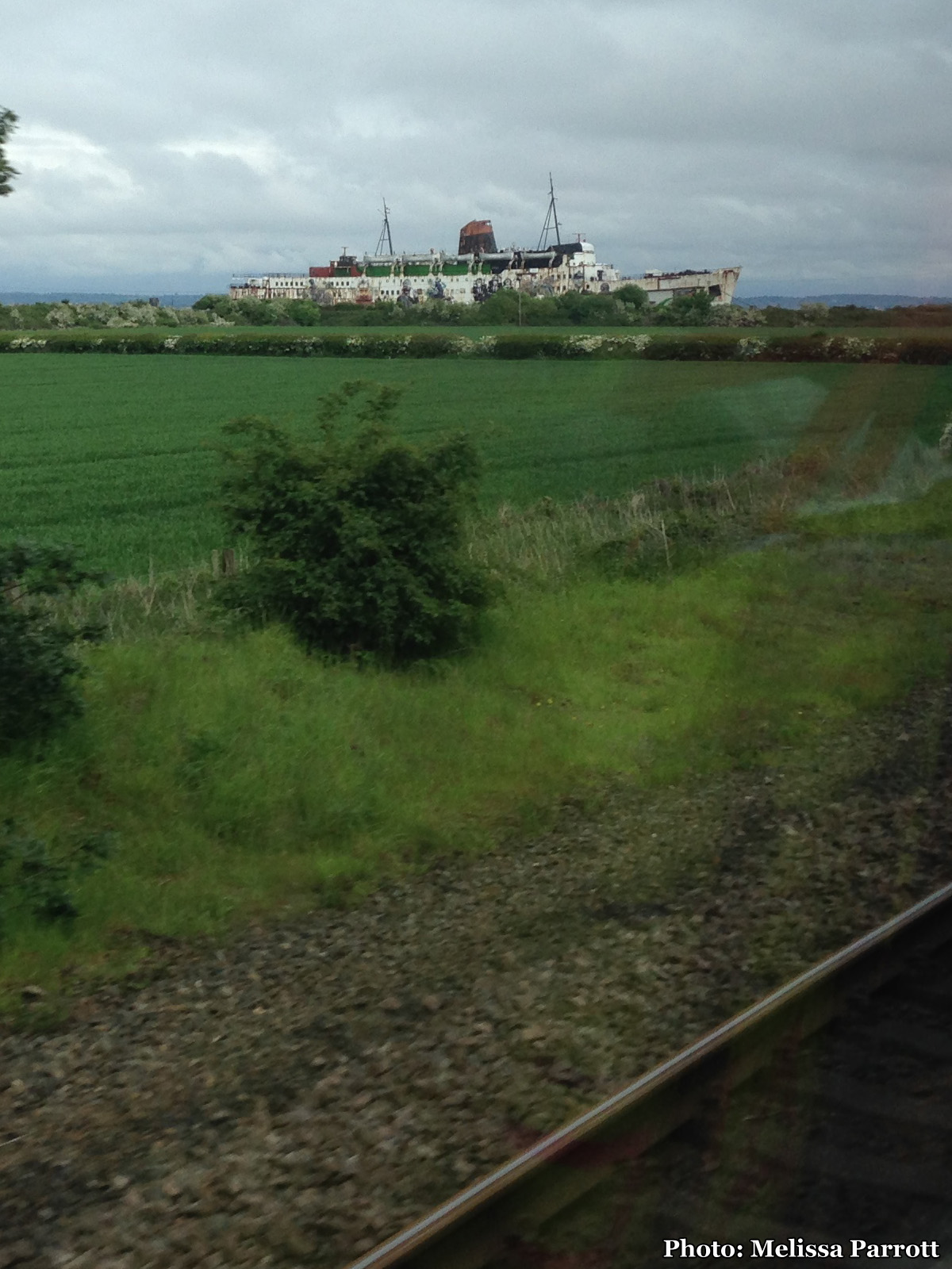 A beached ship caught my eye as the train sped past. I would have loved to explore it, for the graffiti alone not to mention the arcade games frozen in time inside! Behold the Duke of Lancaster, moored in Llanerch-y-Mor!
