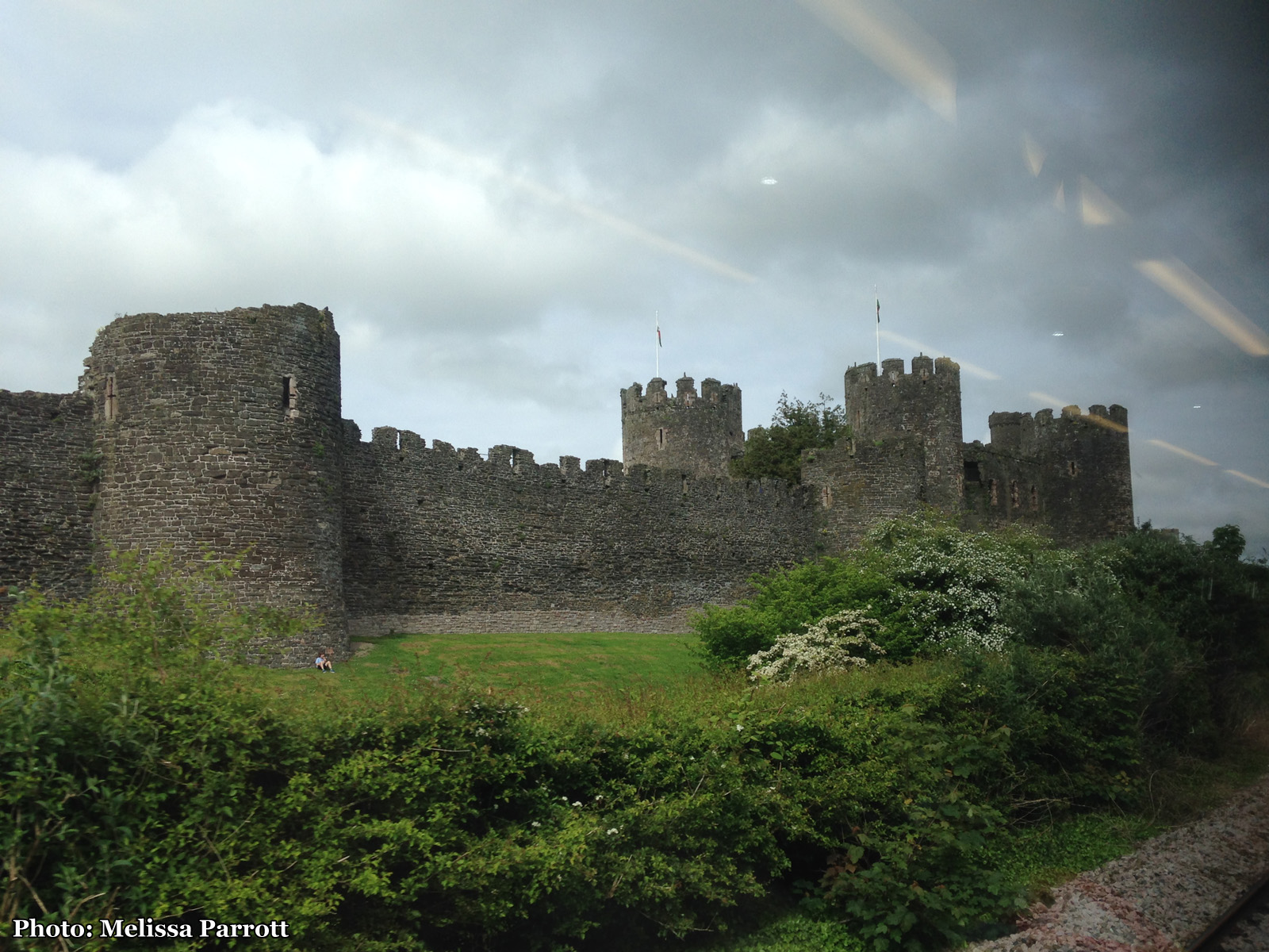 I also spotted Conwy Castle from the train, it was built in the 13th century as an estuary fortress, which has been remarkably preserved.