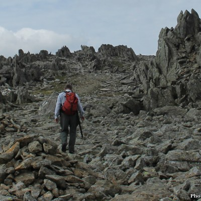 It was only a short walk ahead to the summit, along the rugged top edge of Glyder Fawr.
