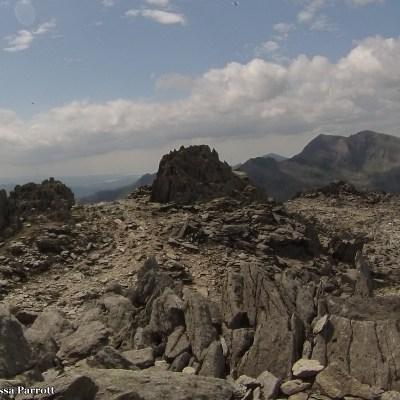 We met a handful of scramblers at the tallest summit rock.