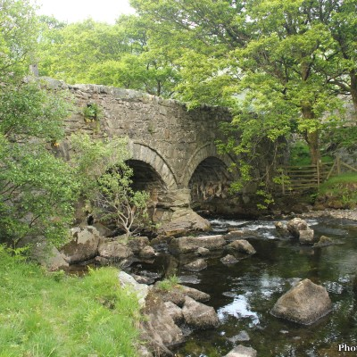 I didn't head back to the bunkhouse, yet.  I crossed the Tyn y Maes bridge and made a left on the main road instead, heading into the village of Bethesda.
