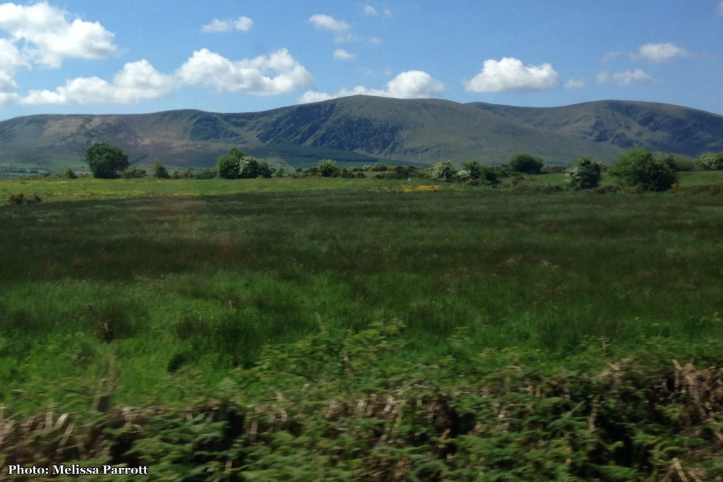 From the Tralee Line Train, looking out at the mountain range by Lough Murtagh and Gortavehy