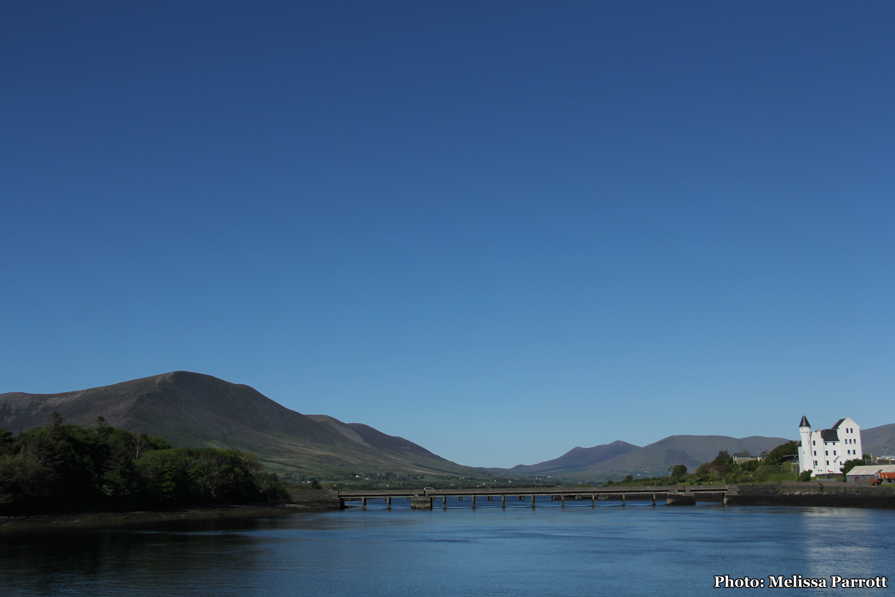 Looking back at the River Fertha and The Old Barracks (Cahersiveen)