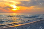 39762956-Sunset-on-Florida-Gulf-of-Mexico-beach-Stock-Photo