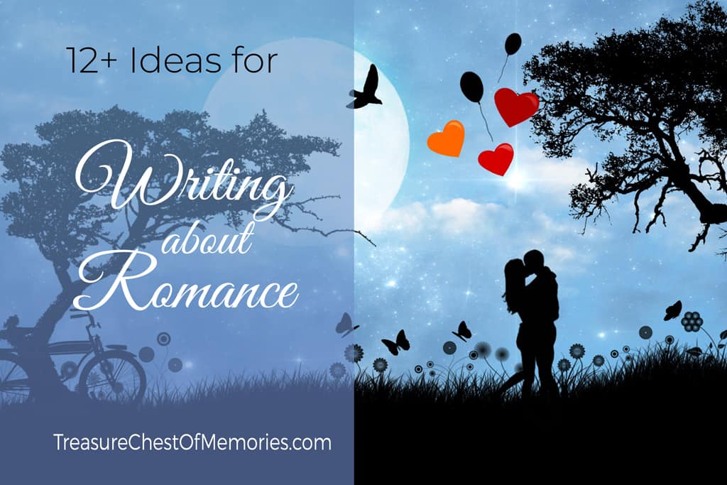 Romane in moonlight graphic for Writing about Romance