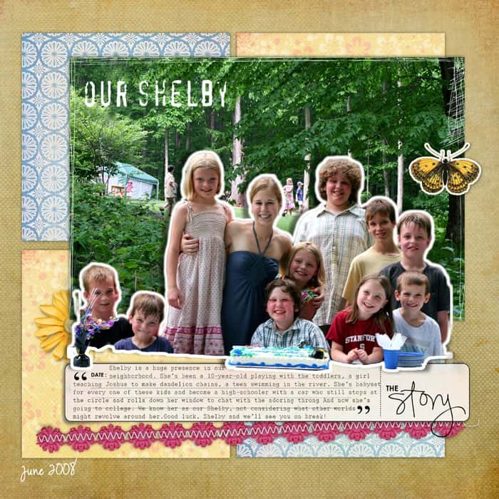 Using Narrative in scrapbooksOur Shelby from Debbie Hodge