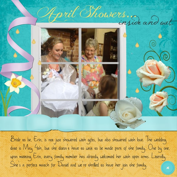 April Showers digital layout