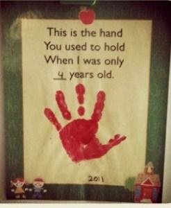 hand prints share memories