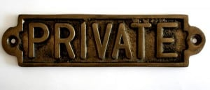 private writing is PRIVATE