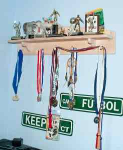 Shelf for kids awards