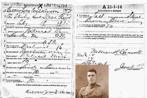 WWI Draft Registration historic images