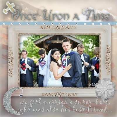 Remember Wedding Dreams with scrapbook layout