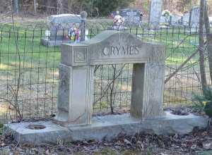 Crymes Family Grave Marker