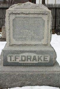 Drake family grave marker