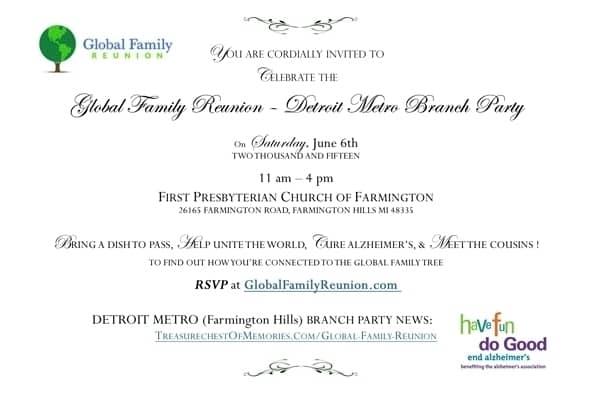 Global Family Reunion Invitation