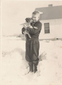 Daddy with childhood dog