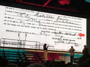 LeVar Burton sees his grandfather's signature