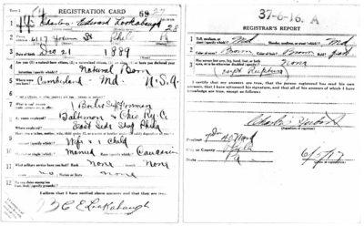 Charles Edward Lookabaugh WWI Draft Registration