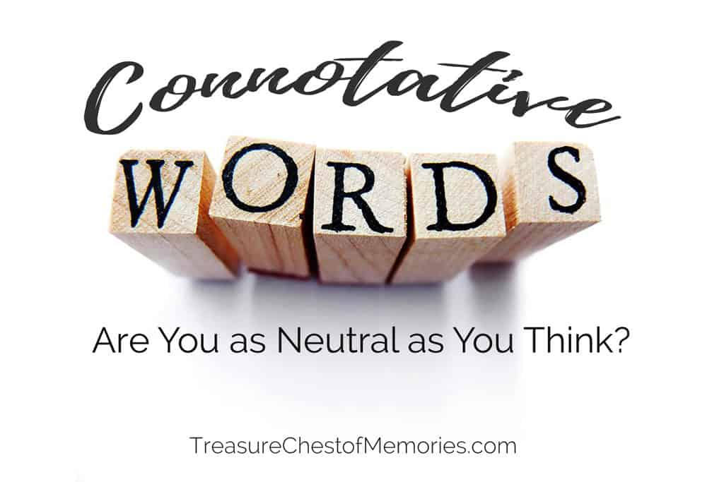 Connotative words with block letters