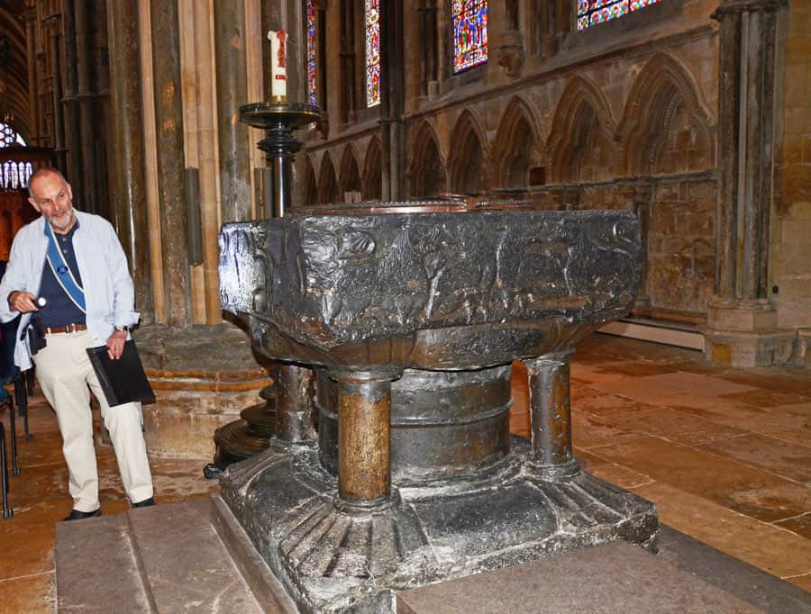 Baptismal Font in Lincoln Cathedral