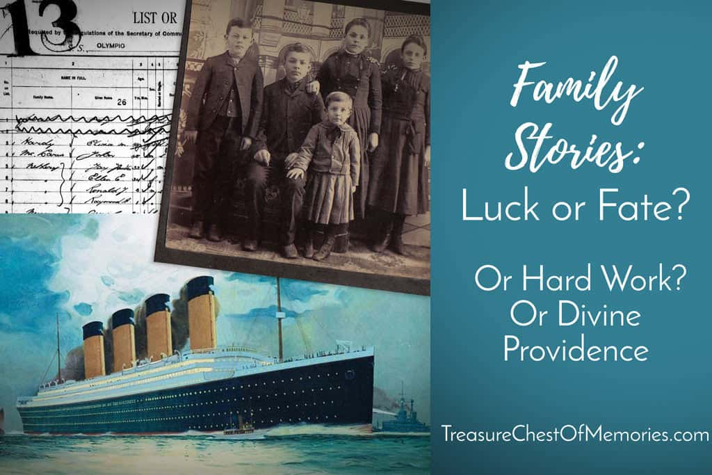 Family Stories - Are they Luck, Hard work or fate